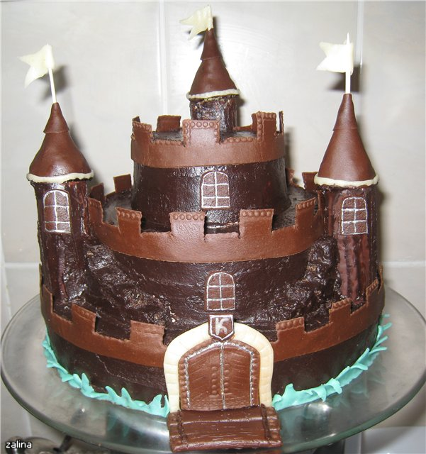 как приготовить торт замок фото